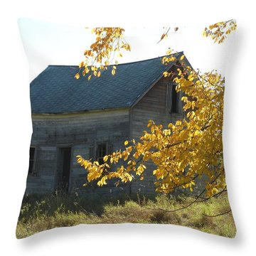 Throw Pillow featuring the photograph Captain Ed's Homestead by Penny Meyers