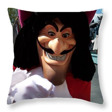 Captain Hook Throw Pillow
