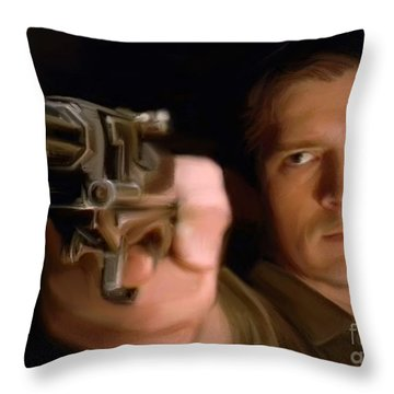 Captain Mal Throw Pillow by Paul Tagliamonte