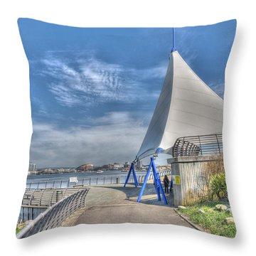 Captain Scott Exhibition Sails Throw Pillow by Steve Purnell