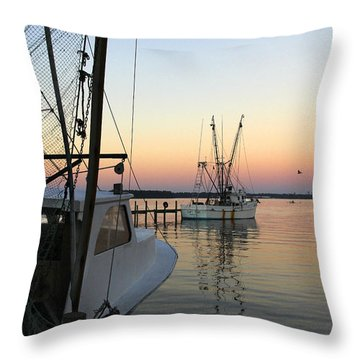 Captain Tony - In For The Night Throw Pillow by Mike McGlothlen