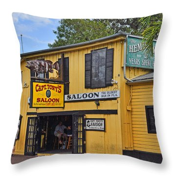 Captain Tony's Saloon Throw Pillow