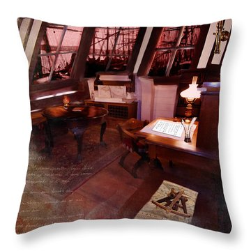 Captain's Cabin On The Dicey Throw Pillow