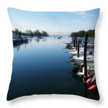 Throw Pillow featuring the photograph Captain's Cove by Kristine Nora