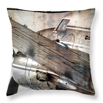 Captain's Flight Throw Pillow by Steven Bateson