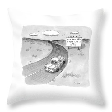 Captionless 'mom And Dad Really Lose It  -  1/4 Throw Pillow