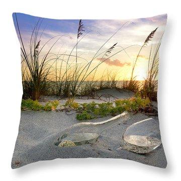 Captiva Sunset Throw Pillow by Jon Neidert