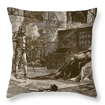 Capture Of Bruces Wife And Daughter Throw Pillow by Charles Ricketts
