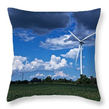 Throw Pillow featuring the photograph Capture The Wind by Dave Files