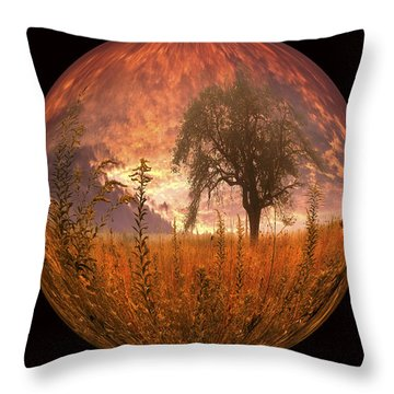 Captured Flame Throw Pillow by Debra and Dave Vanderlaan