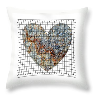 Throw Pillow featuring the digital art Captured Love- No1 by Darla Wood