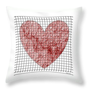 Throw Pillow featuring the digital art Captured Love- No2 by Darla Wood
