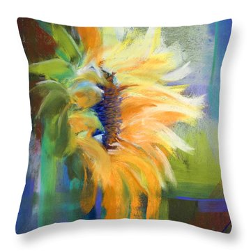 Captured Sunlight Throw Pillow by Tracy L Teeter