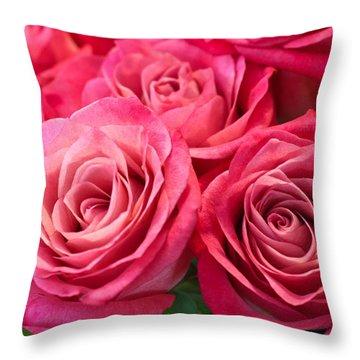 Capturing A Bouquet Throw Pillow