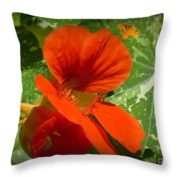 Capucine 7 Throw Pillow by France Laliberte