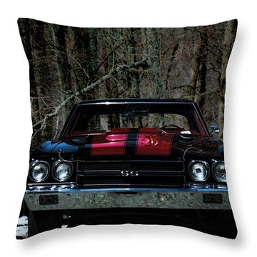 Car Art Chevy Chevelle Ss Hdr Throw Pillow