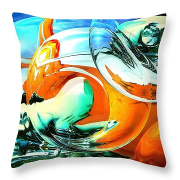 Car Fandango - Modern Art Throw Pillow