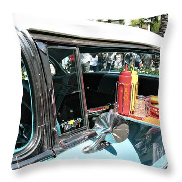 Car Hop Throw Pillow by Nina Prommer