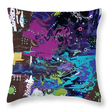 Car Repairs Can Make You..crazy Throw Pillow by Charlotte Nunn