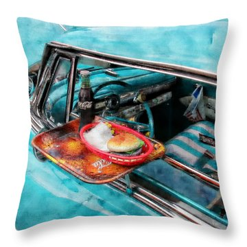 Classic Cars Throw Pillow featuring the photograph Car Side  by Aaron Berg