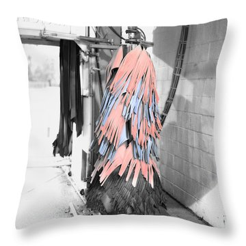 Car Wash Throw Pillow by J Riley Johnson