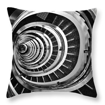 Time Tunnel Spiral Staircase In Sao Paulo Brazil Throw Pillow