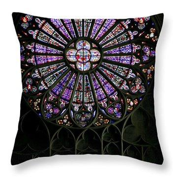 Carcassonne Rose Window Throw Pillow