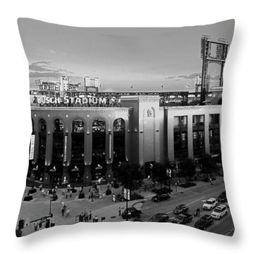 Card Fans Arrive Bw Throw Pillow