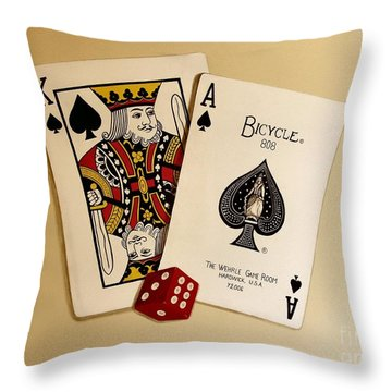 Card Game Room Mural Throw Pillow