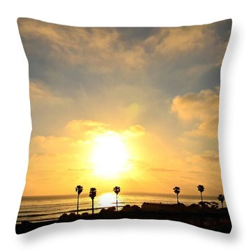 Cardiff Palms Throw Pillow