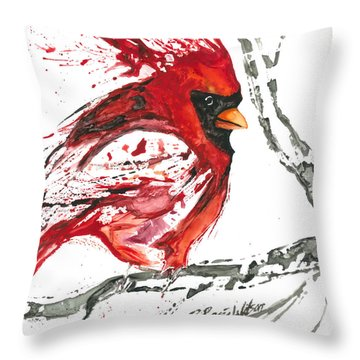 Cardinal Direction Throw Pillow