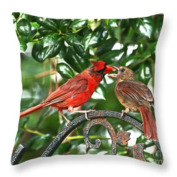 Cardinal Gift Of Love Photo Throw Pillow