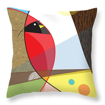 Cardinal In Fall Throw Pillow