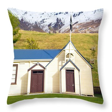 Cardrona Schoolhouse Throw Pillow