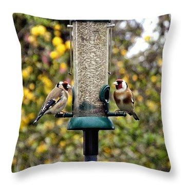 Carduelis Carduelis 'goldfinch' Throw Pillow