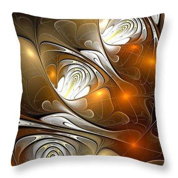 Throw Pillow featuring the digital art Carefree by Anastasiya Malakhova