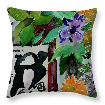 Throw Pillow featuring the painting Carefree by Beverley Harper Tinsley