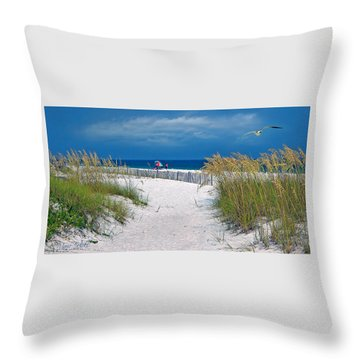 Carefree Days By The Sea Throw Pillow