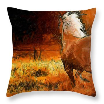 Throw Pillow featuring the painting Carefree by Georgi Dimitrov