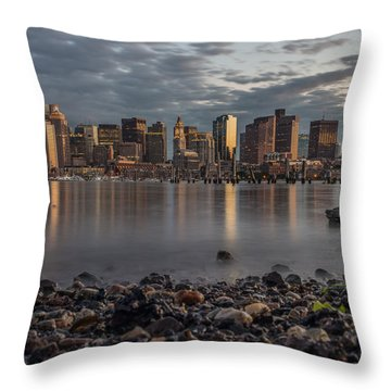 Carleton's Wharf Throw Pillow