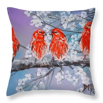 Throw Pillow featuring the painting Cargates In Spring by Donna Dixon