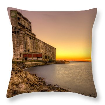 Cargill Pool Elevator Twilight Throw Pillow