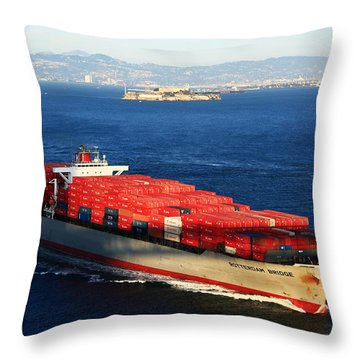 San Francisco Bay Throw Pillow by Aidan Moran