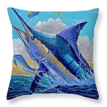 Carib Blue Throw Pillow