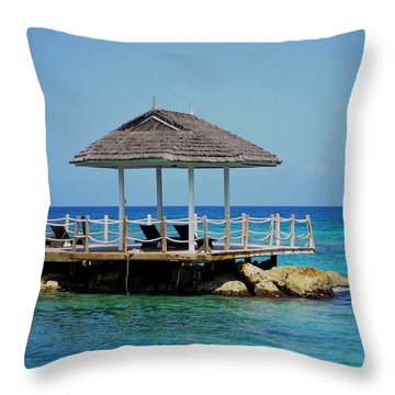 Throw Pillow featuring the photograph Caribbean Breeze by Randy Pollard