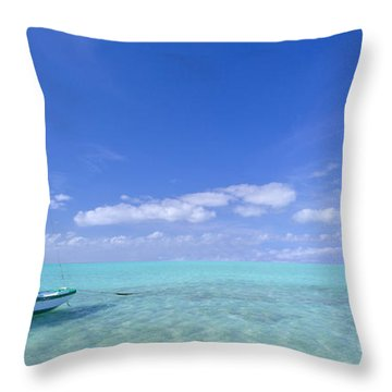 Caribbean Chill Time Throw Pillow by Marco Crupi