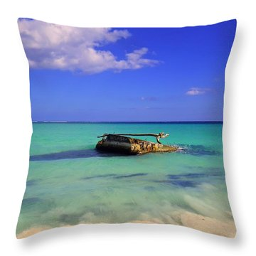 Throw Pillow featuring the photograph Caribbean Colors  by Eti Reid