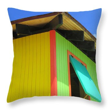 Caribbean Corner 2 Throw Pillow by Randall Weidner