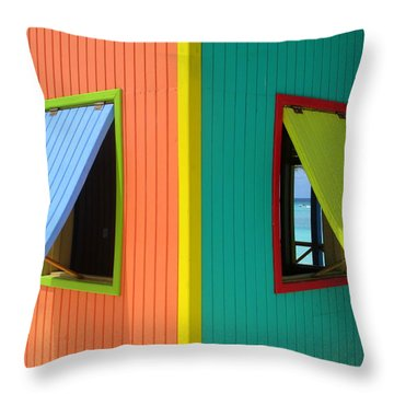 Caribbean Corner 4 Throw Pillow