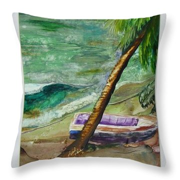 Caribbean Morning II Throw Pillow